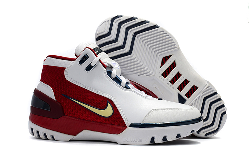 Nike Lebron James 1 Copy Cloning Limited White Red Blue Shoes