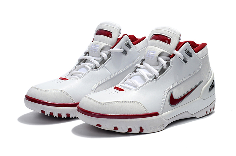 Nike Lebron James 1 Copy Cloning White Wine Red Shoes