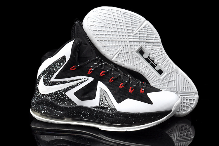 Nike Lebron James 10 Shoes Elite Black White Red