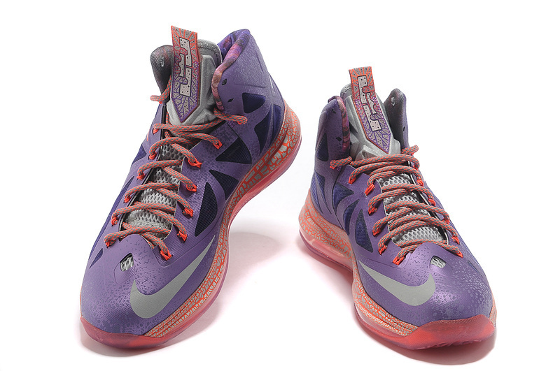 Nike Lebron James 10 Purple Red For Women