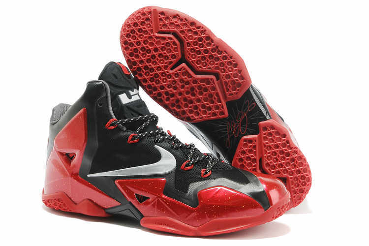 real lebron james 11 black red shoes for cheap