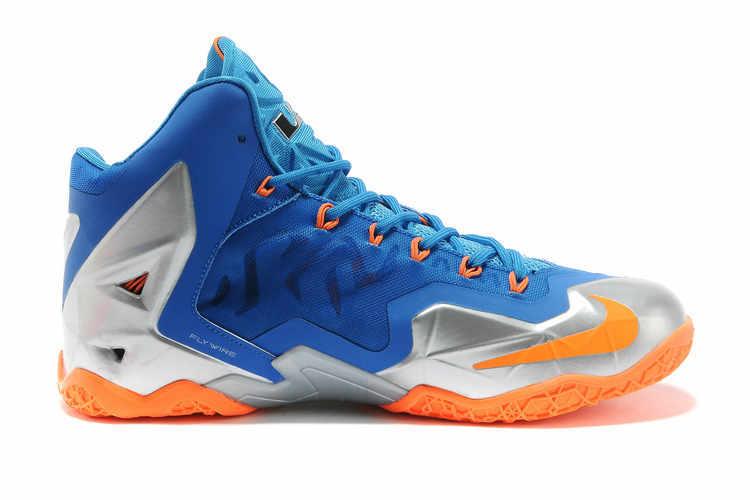Nike Lebron 11 Shoes Light Blue Silver Orange Online ...