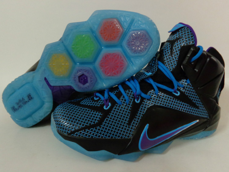 Nike Lebron James 12 Black Blur Purple For Kid