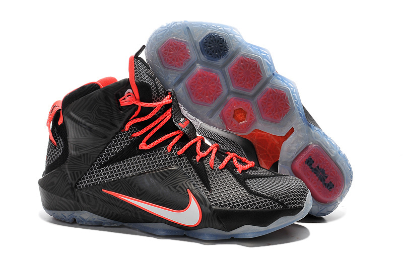 Nike Lebron James 12 Black Red Shoes