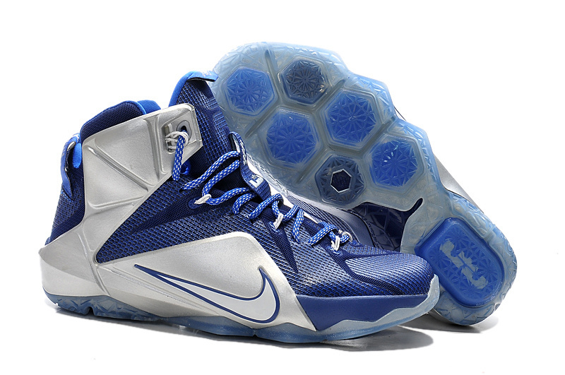 Nike Lebron James 12 Blue Silver Shoes