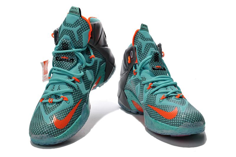 Buy Cheap Nike Lebron James 12 Grey Green Orange ...