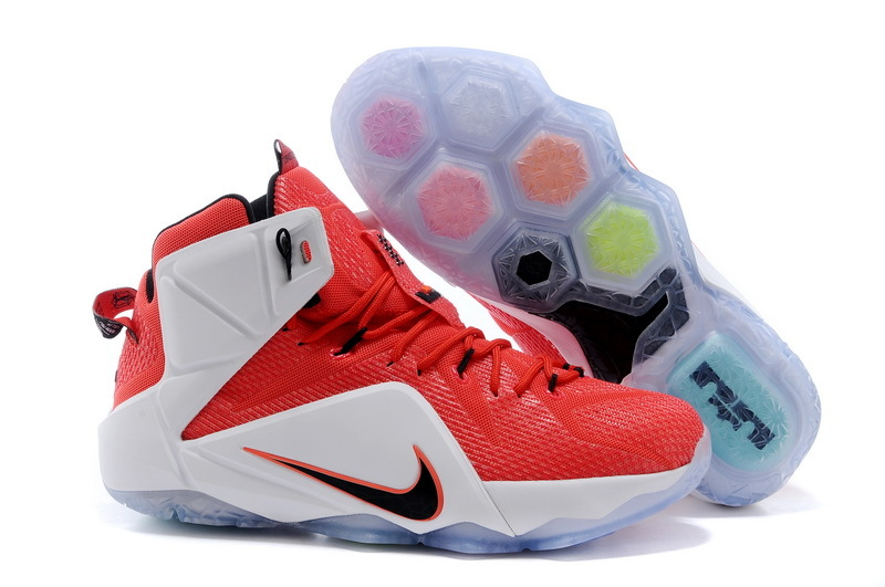 Nike Lebron James 12 Red White Shoes