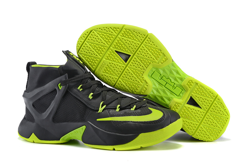 Nike Lebron James 13 Black Fluorscent Green Shoes