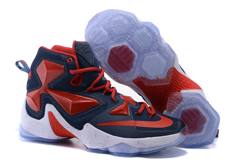 Nike Lebron James 13 Dark Blue Red Shoes