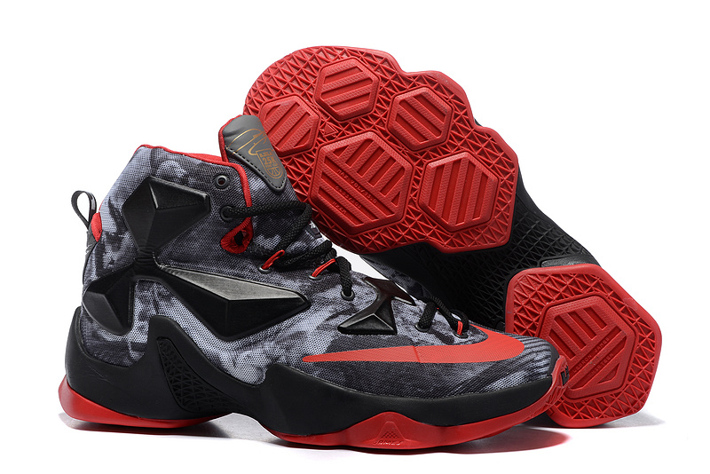 Nike Lebron James 13 Elite Milestone Grey Black Red Shoes