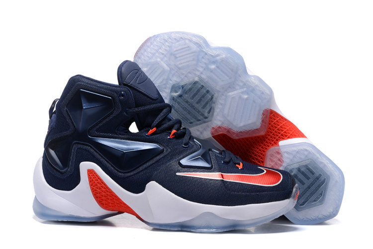 Nike Lebron James 13 Independence Day Blue Red White Shoes