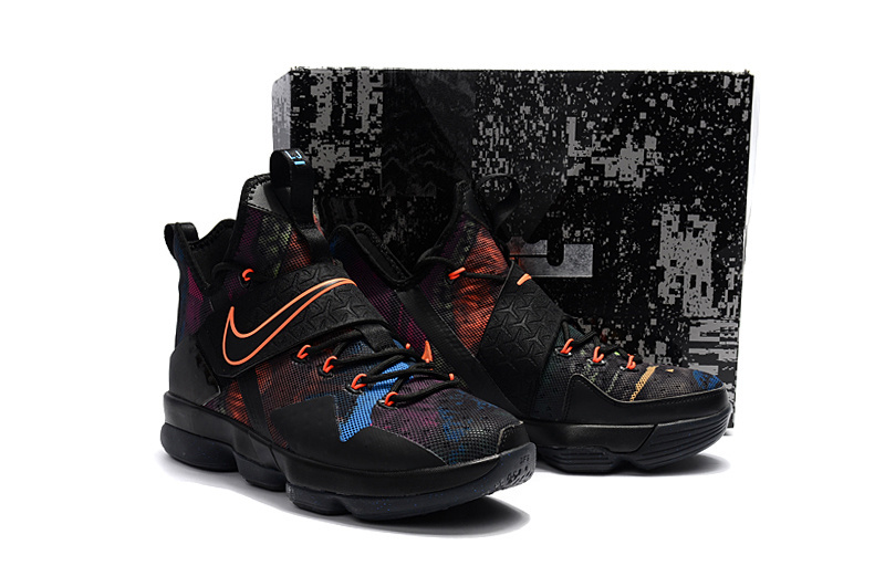 Nike Lebron James 14 Black Colorful Shoes
