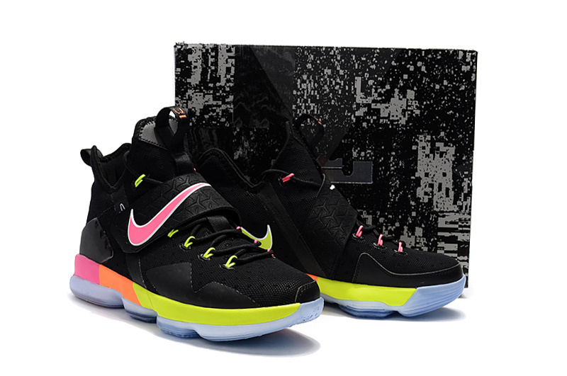 Nike Lebron James 14 Black Fluorscent Pink Shoes
