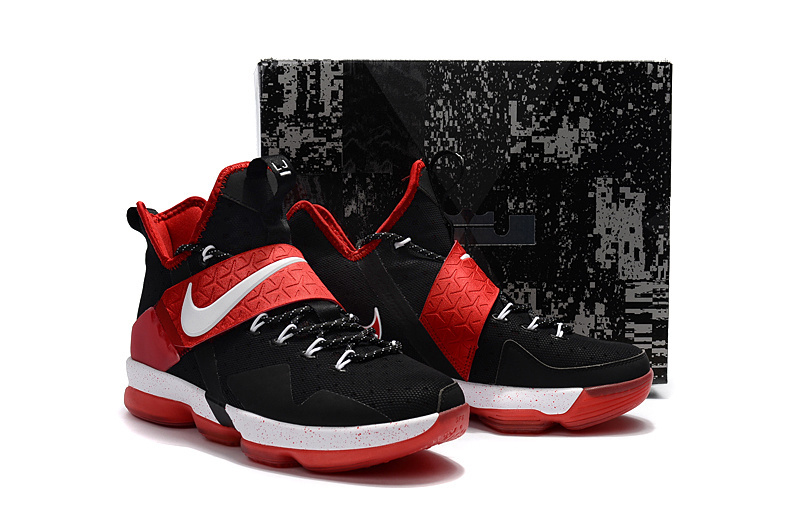 Nike Lebron James 14 Black Red White Shoes