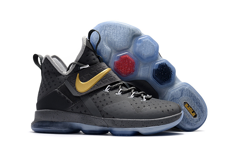 Nike Lebron James 14 Grey Gold Shoes