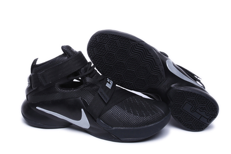 Nike Lebron James 9 Soldier All Black Shoes