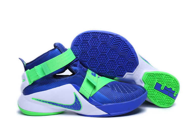 Nike Lebron James 9 Soldier Blue Green White Shoes