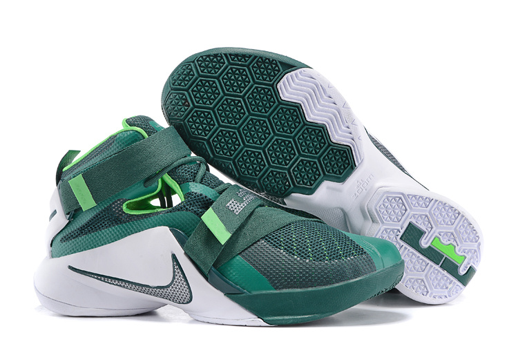 Nike Lebron James 9 Soldier Green White Shoes