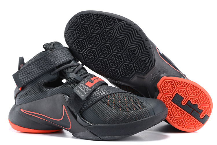 Nike Lebron James 9 Soldier Grey Orange Shoes