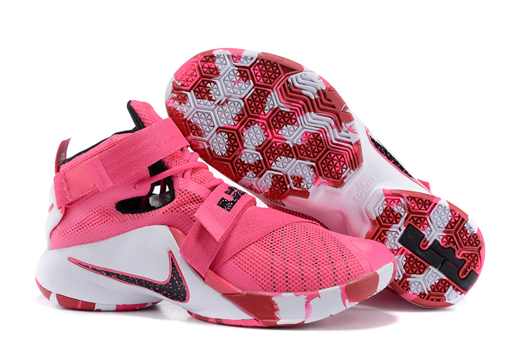 Nike Lebron James 9 Soldier Pink White Shoes