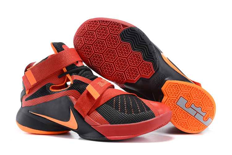 Nike Lebron James 9 Soldier Red Black Orange Shoes