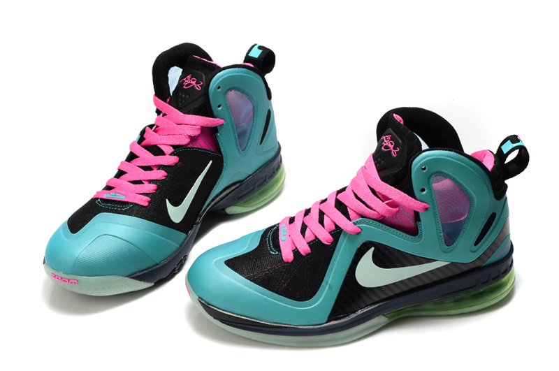 Nike Lebron James 9.5 Black Blue Pink Shoes