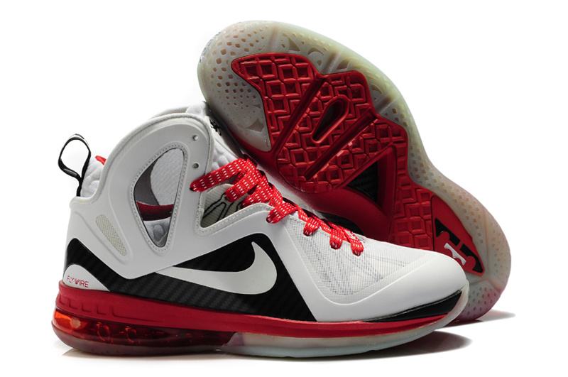 Nike Lebron James 9.5 White Black Red Shoes