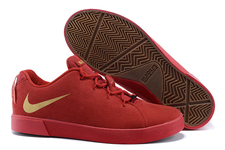 Nike Lebron James Low Casual Shoes All Red Gold