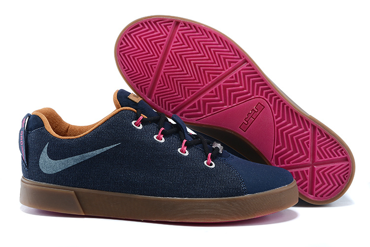 nike lebron low casual shoes blue coffe