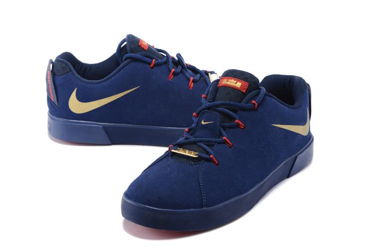 premium selection 5578c 1367a blue and gold lebron james shoes
