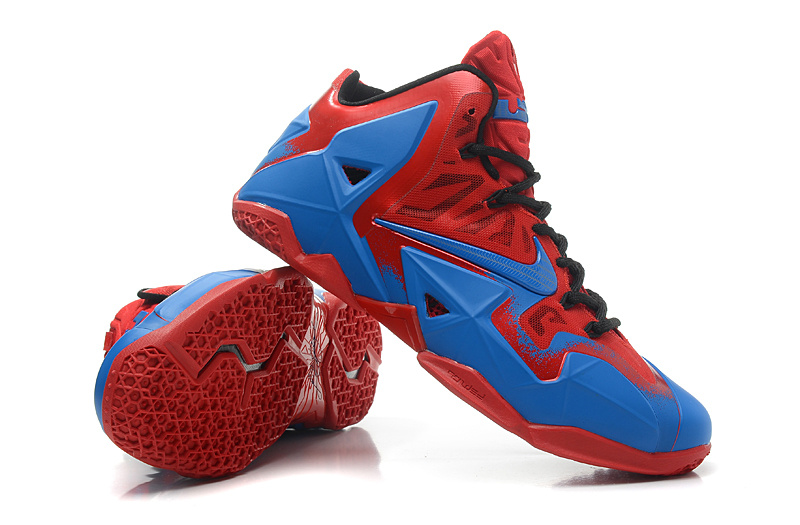 Lebrons 11 Blue And Red Real Lebron Jam...
