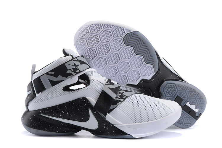 Nike Lebron James Soldier 9 Oreo White Black Shoes