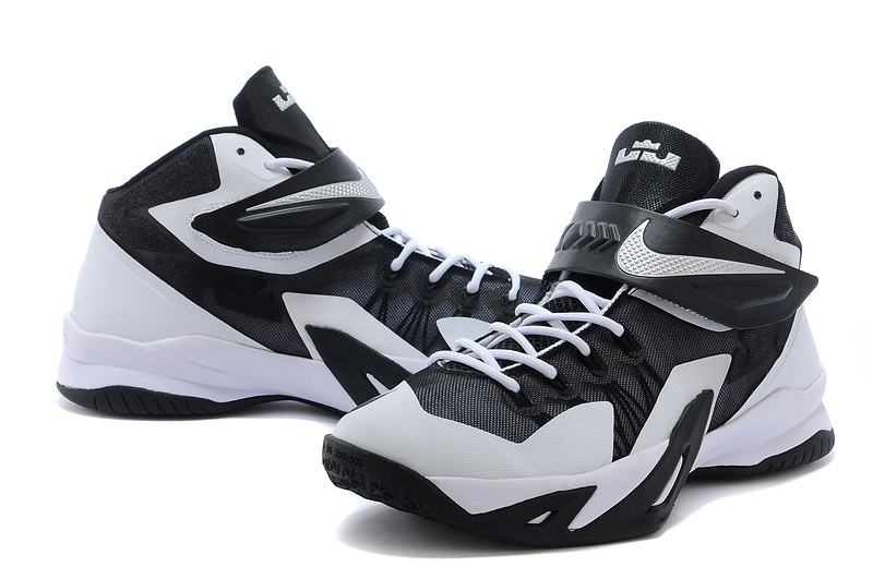 Nike Lebron James Solider 8 White Black Shoes