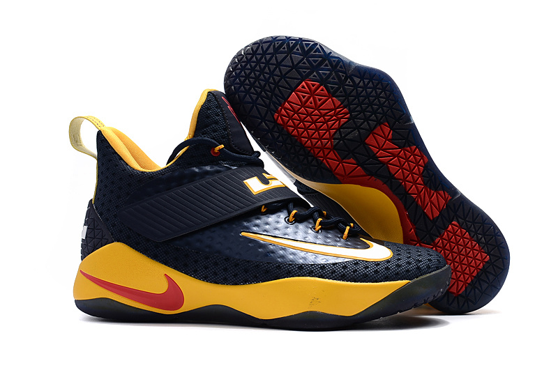 Nike Lebron Soldier 11 Deep Blue Yellow Red Shoes