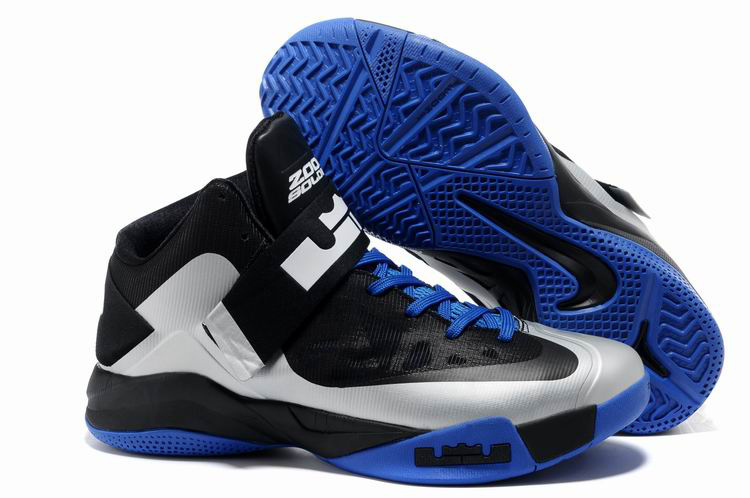Lebron James Soldier 6 Black Blue Silver Shoes