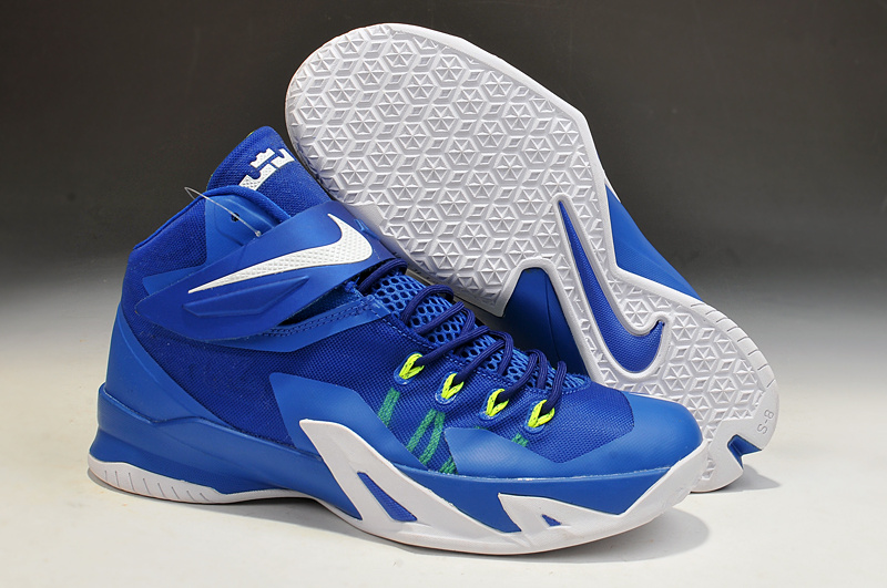 Lebron James Soldier 8 Blue White Basketball Shoes