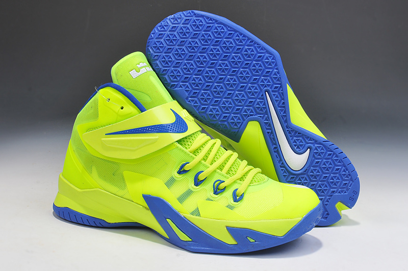 Lebron James Soldier 8 Light Green Blue Basketball Shoes