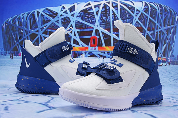 2019 Nike Lebron Solider 13 White Blue