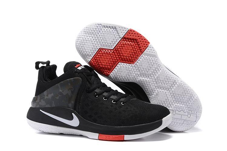 Nike Lebron Wintness 1 Black Red White Shoes