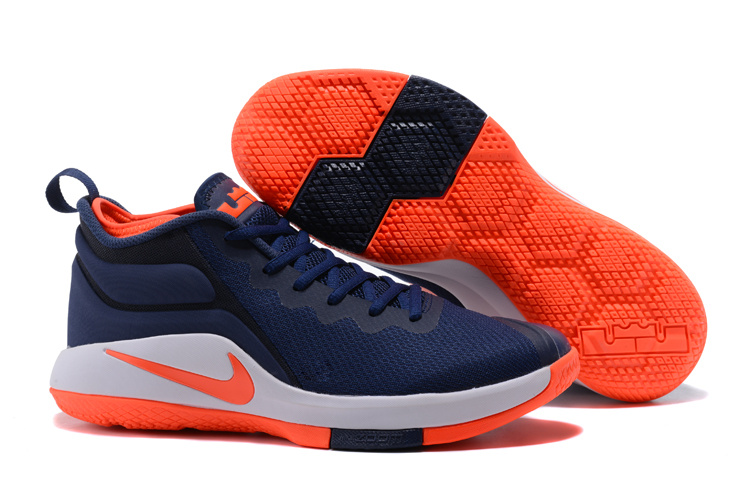 Nike Lebron Wintness 1 Dark Blue Orange Shoes