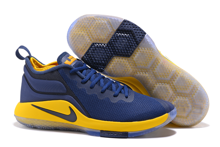 Nike Lebron Wintness 1 Dark Blue Yellow Shoes