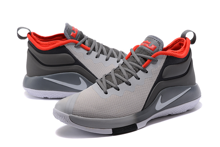 Nike Lebron Wintness 1 Grey Black Red Shoe