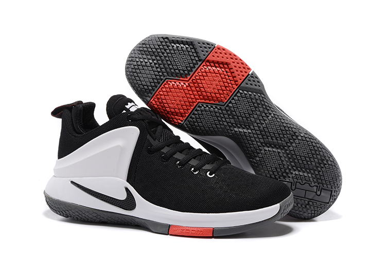 Nike Lebron Wintness 1 White Black Red Shoes