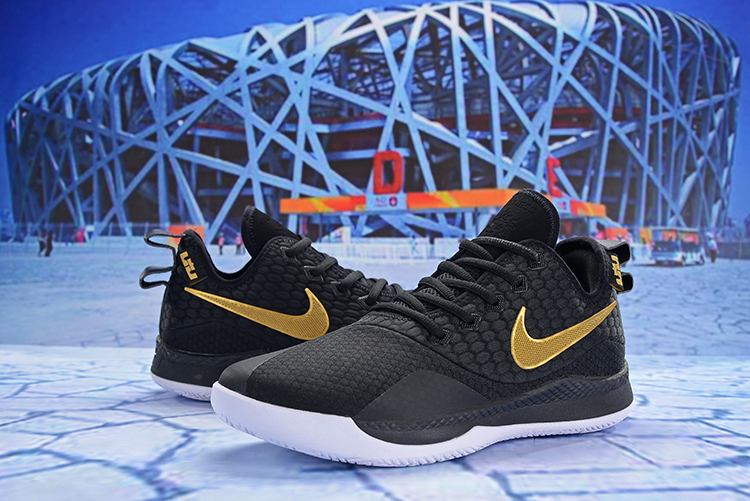 Nike Lebron Wintness 3 Black Gloden Shoes