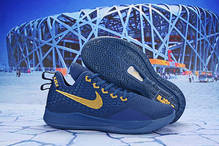 Nike Lebron Wintness 3 Blue Gloden Shoes