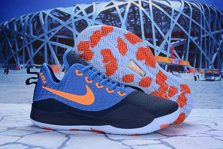 Nike Lebron Wintness 3 Blue Orange Shoes