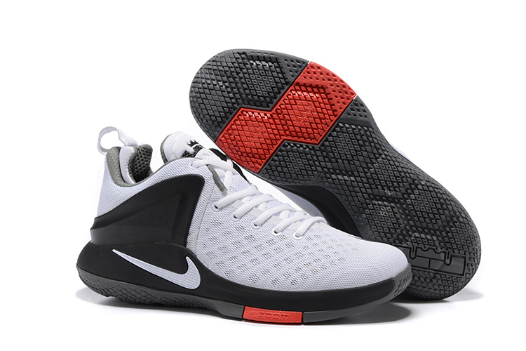 Nike Lebron Witness 1 White Black Red Shoes