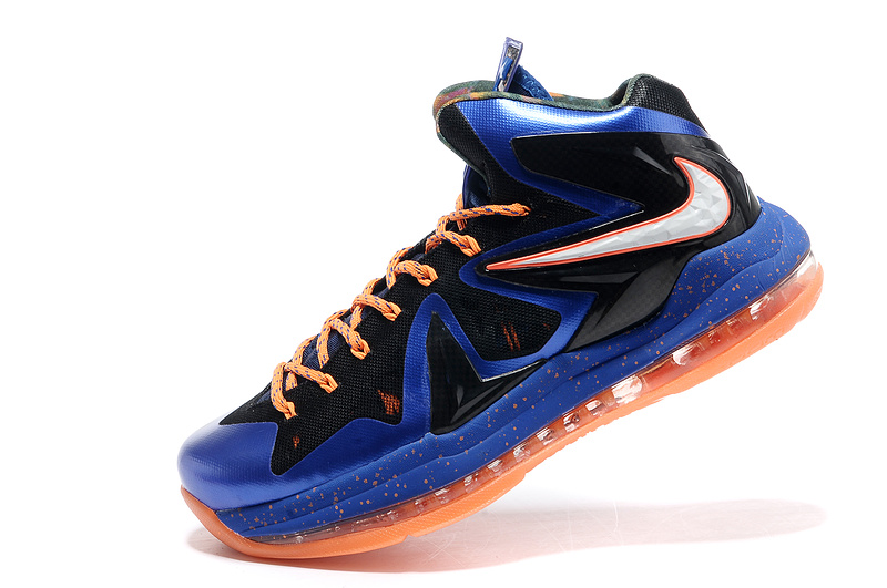 Nike Lebron James 10 Shoes PS Elite Blue Black Orange