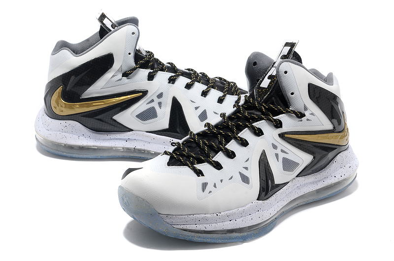 Nike Lebron James 10 Shoes PS Elite White Black