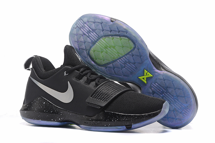Nike PG 1 Ferocity Black Gamma Blue Sole Shoes
